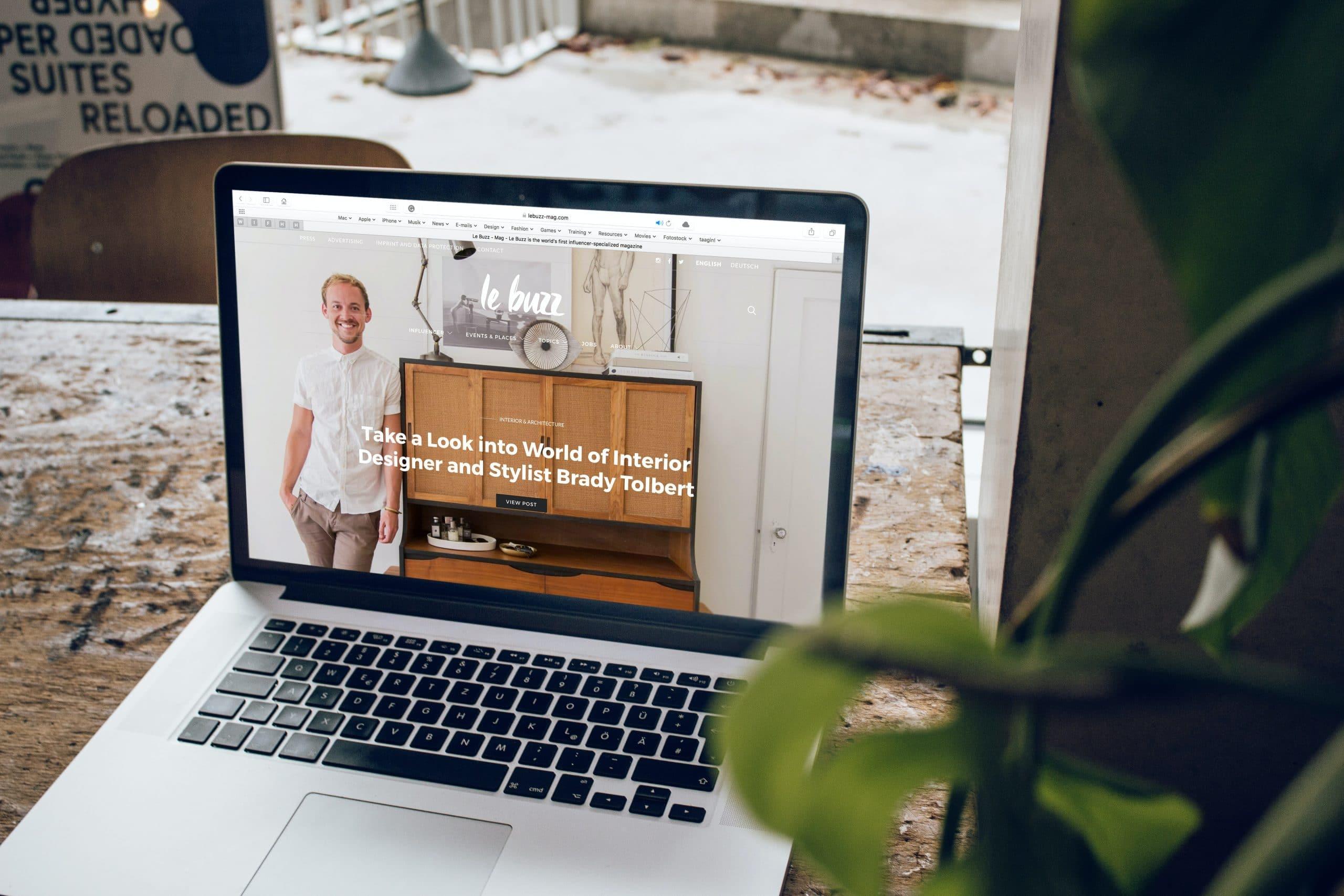 Site web d'un artisan designer de meubles