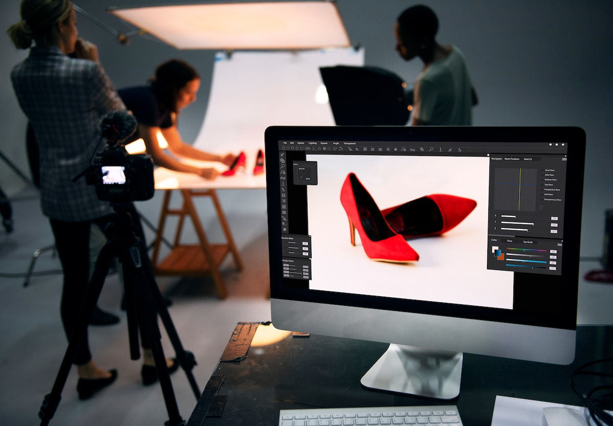 Shooting photo packshot de chaussures pour un e-commerce
