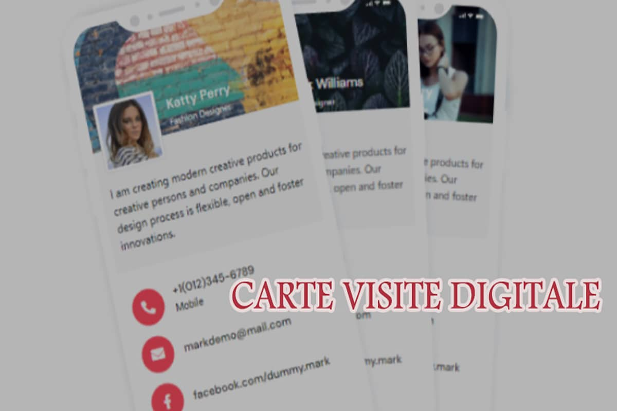 Cartes de visite virtuelles