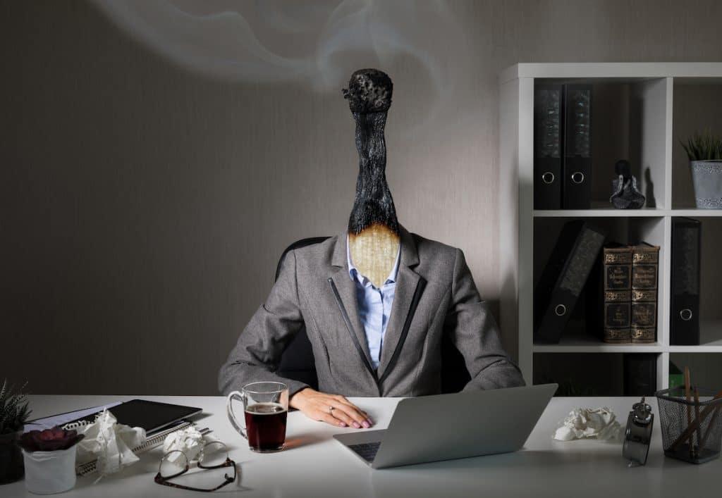 Image symbolique du syndrome du burnout professionnel